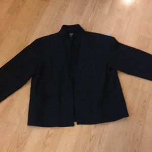 Black Eileen Fisher zip up jacket top size small